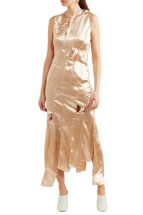 REJINA PYO Paneled satin midi dress