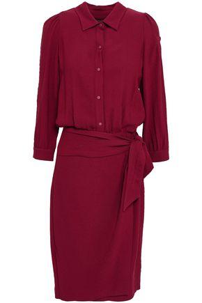 BA&SH Belted crepe shirt dress