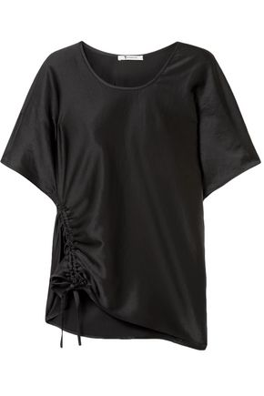 T by ALEXANDER WANG Ruched satin T-shirt