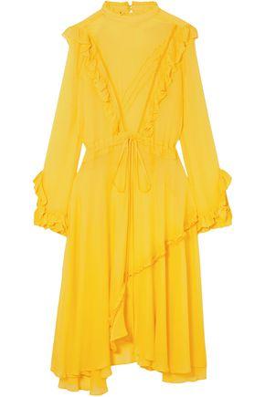 PREEN LINE Ruffled crepe midi dress