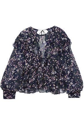 ISABEL MARANT Muster floral-print fil coupé silk-blend georgette blouse