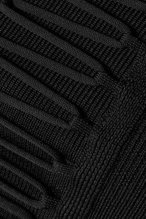 TIBI Lace-up stretch-knit bustier