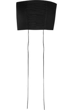 TIBI Lace-up stretch-knit bustier