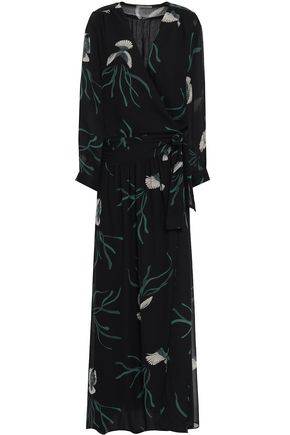 BA&SH Printed georgette maxi dress