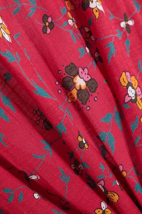 BA&SH Floral-print woven blouse