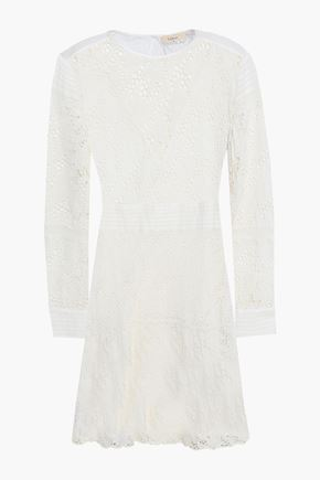 BA&SH Aphrodite cotton-broderie anglaise mini dress