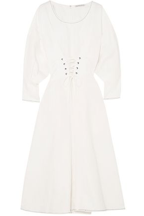 REJINA PYO Irene linen and cotton-blend midi dress