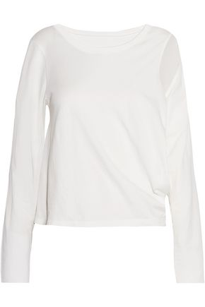 MM6 MAISON MARGIELA Cutout cotton-jersey top