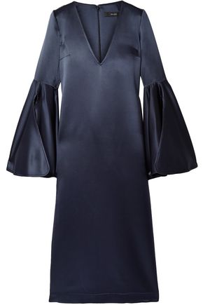 ELLERY Clover silk-satin midi dress