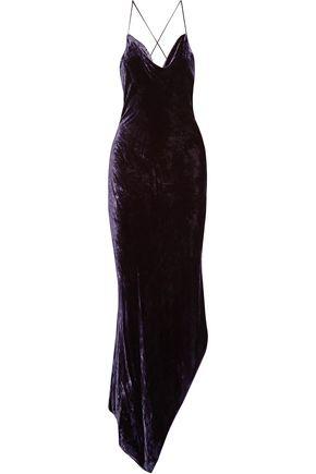 JUAN CARLOS OBANDO Velvet midi dress