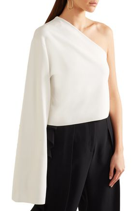 SOLACE LONDON One-shoulder stretch-knit top