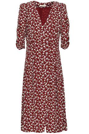 BA&SH Coachella wrap-effect printed crepe midi dress
