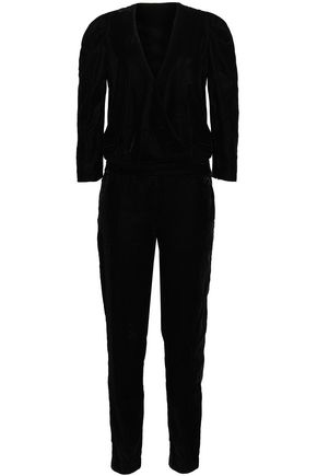 BA&SH Ryan velvet jumpsuit