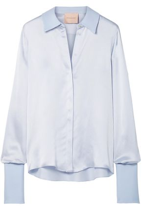 ROKSANDA Kanika silk-blend satin-seersucker shirt
