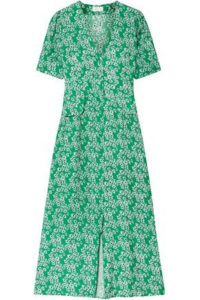 dffc4097eed RIXO London Jackson floral-print crepe de chine midi dress