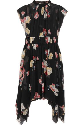 ULLA JOHNSON Luisa floral-print silk-georgette mini dress