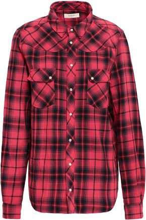 BA&SH Checked cotton-flannel shirt