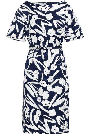 OSCAR DE LA RENTA Printed cotton-blend jacquard dress