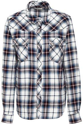 BA&SH Checked cotton-flannel shirt