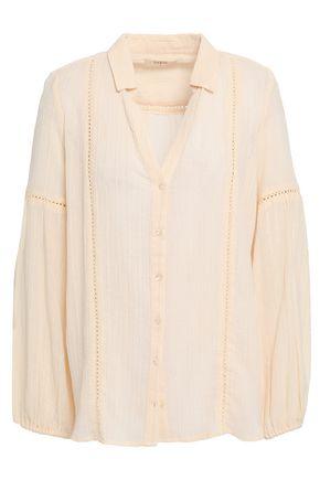 BA&SH Lakota crochet-trimmed cotton-blend gauze shirt