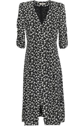 BA&SH Coachella wrap-effect printed crepe midi dress