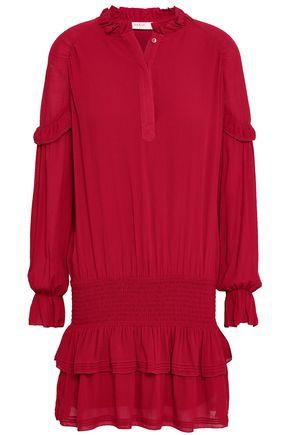BA&SH Ruffle-trimmed tiered woven mini dress