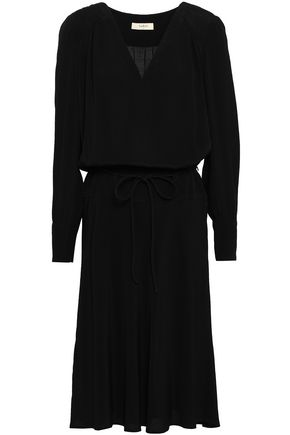 BA&SH Pleated crepe dress