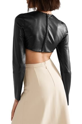 TRE by NATALIE RATABESI Cropped leather top