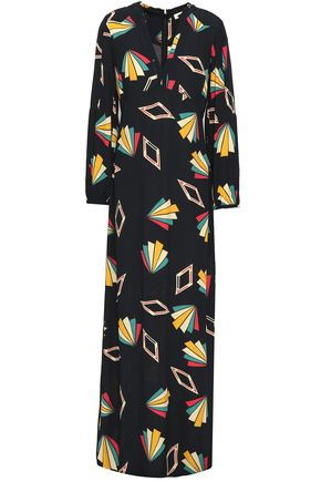 BA&SH Vocea printed crepe maxi dress