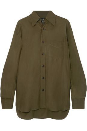 TOM FORD Cupro-twill shirt