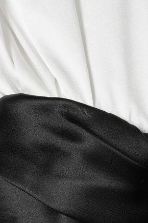 ALEXANDER WANG Layered satin and silk-blend dress