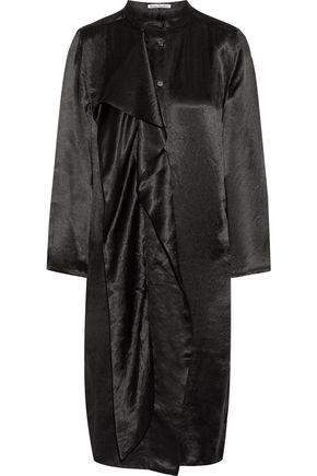 ACNE STUDIOS Doree draped satin dress