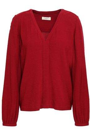 BA&SH Spoutnic crepe blouse