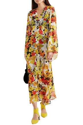 060c6b43 ATTICO Floral-print silk-georgette midi dress