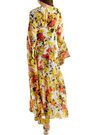 ATTICO Floral-print silk-georgette midi dress