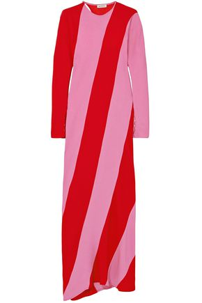 ATTICO Envers striped satin-crepe maxi dress