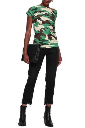 JUNYA WATANABE COMME des GARÇONS Asymmetric camouflage-print tech-jersey top