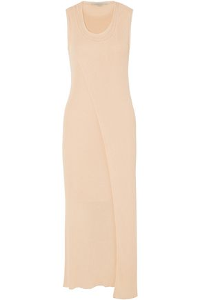 STELLA McCARTNEY Layered cotton-blend midi dress