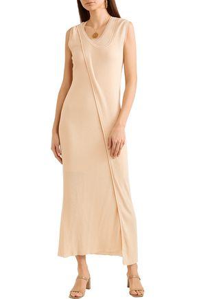 STELLA McCARTNEY Layered cotton-blend midi dress
