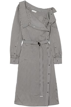 ALTUZARRA Albany oversized striped twill midi dress