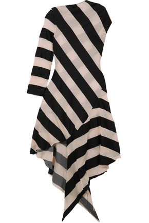 MARQUES' ALMEIDA Striped cotton and silk-blend dress