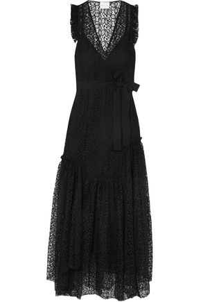 ALICE McCALL Ruffle-trimmed lace maxi dress