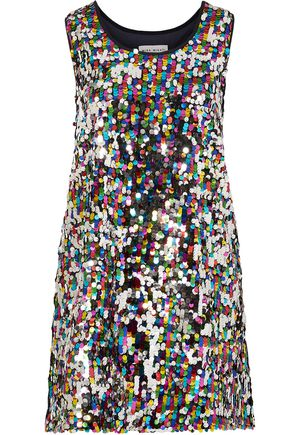 MIRA MIKATI Sequined tulle mini dress