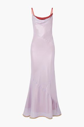 ACNE STUDIOS Beaded crepe maxi dress