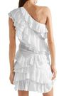 ISABEL MARANT One-shoulder tiered cotton-broderie anglaise mini dress