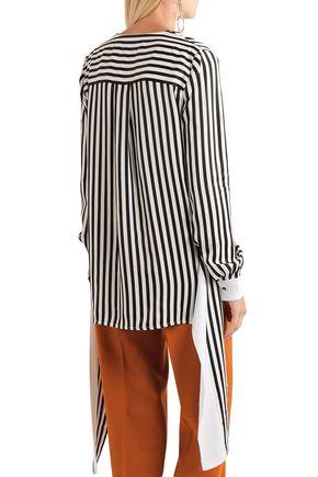 VICTORIA, VICTORIA BECKHAM Striped twill blouse