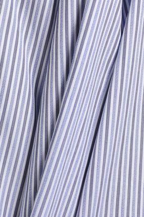 ELLERY Deco bow-detailed cotton-poplin top