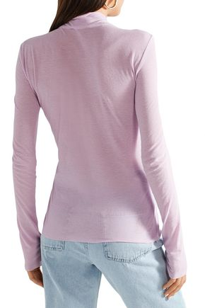 NANUSHKA Cotton-jersey turtleneck top