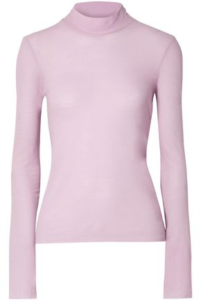 NANUSHKA Cotton-jersey turtleneck top