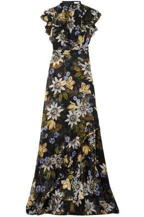 ERDEM Riva ruffle-trimmed floral-print silk-chiffon gown